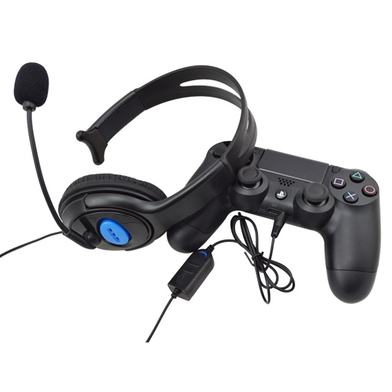 New Wired Gaming Headset For PlayStation 4 Earphone with Microphone For Sony PS4 Pro slim Game Headphone