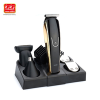 2018 New 5 In 1 Rechargeable Hair Trimmer Titanium Hair Clipper Electric Shaver Beard Trimmer Men