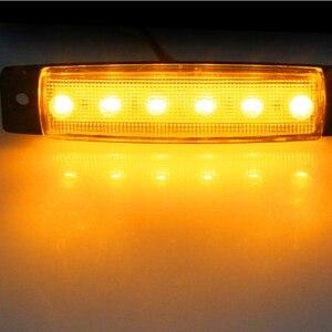 Image 4 - 10 piezas AOHEWEI 12 V LED ámbar lado marcador luz indicador Posición lámpara reflector para camión remolque camión RV caravana