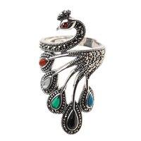 Новые Таиланд 100% 925 пробы Серебряное кольцо для Для женщин, агат и Turquois Элегантный регулируемый серебряное кольцо Fine Jewelry оптовая продажа