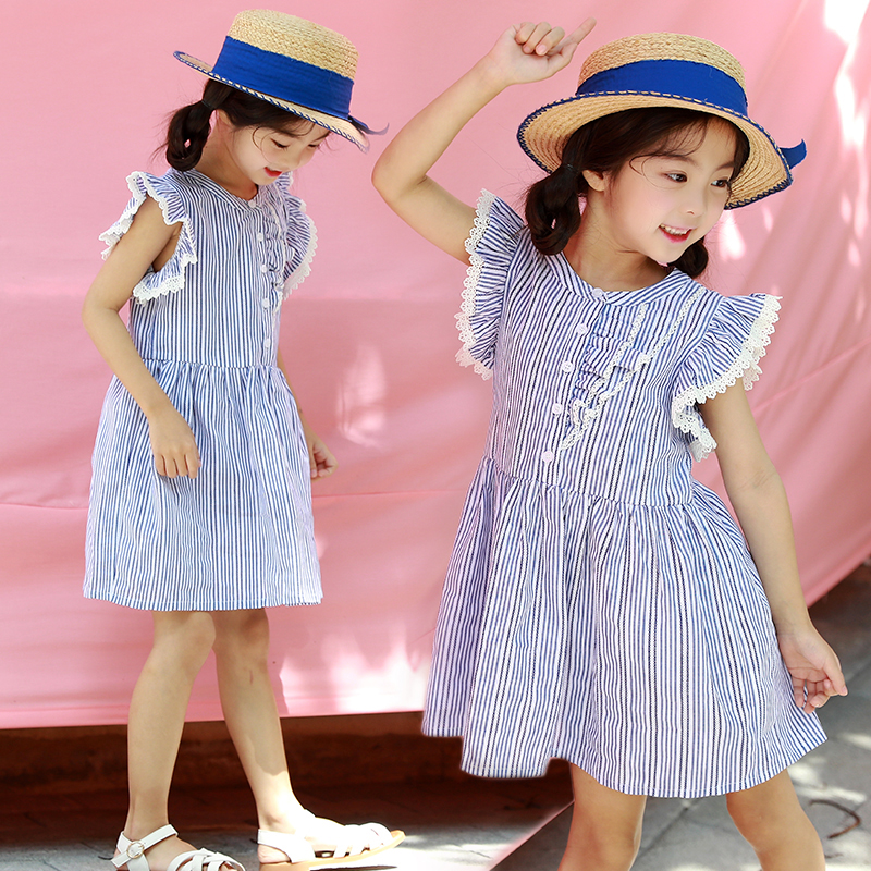 2018 Girls Dress Toddler Princess Party Dresses Girls Clothing Teenager Striped Dress Costume Summer Kids Baby Clothes 12 13 14 children clothing girls dress brand princess dress floral design baby kids dresses for girls clothes teenager infant party wear