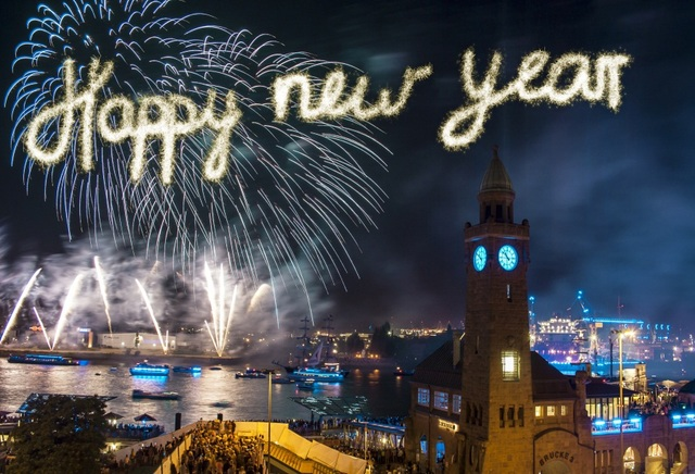 laeacco happy new year fireworks firecrackers city london night scenic photo backgrounds photography backdrops for photo
