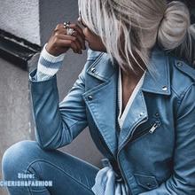 Новое поступление, брендовые зимние осенние мотоциклетные кожаные куртки, желтая кожаная куртка, женское кожаное пальто, тонкая куртка из искусственной кожи