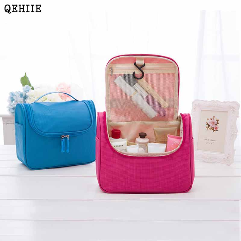 2017 Travel Cosmetic Bags Fashion Waterproof Polyester Multifunction Makeup Storage Bag High Quality Toiletry Bag For