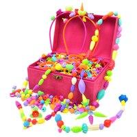 660 PCS Girls Pop Beads Toys for DIY Jewelry Making Kit Necklace, Bracelet, Ring, Hairband Earrings Art Craft Kits Girls Gift