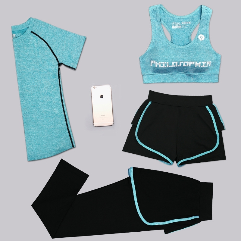 Aipbunny 4 Pieces Yoga Sets 2017 Gym Fitness Women Exercise Activewear Running Suits Plus size XXXL Workout Clothing SportsWear 4