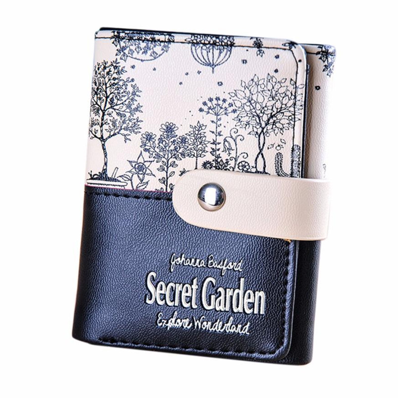 Fashion Women Wallet Secret Garden Coin Purse Short Wallet Card Holders Handbag Candy Color portefeuille femme Women's Money Bag level 5 cut resistant armband thick steel anti cut knife stab proof anti scratch glass wrist defense supplies