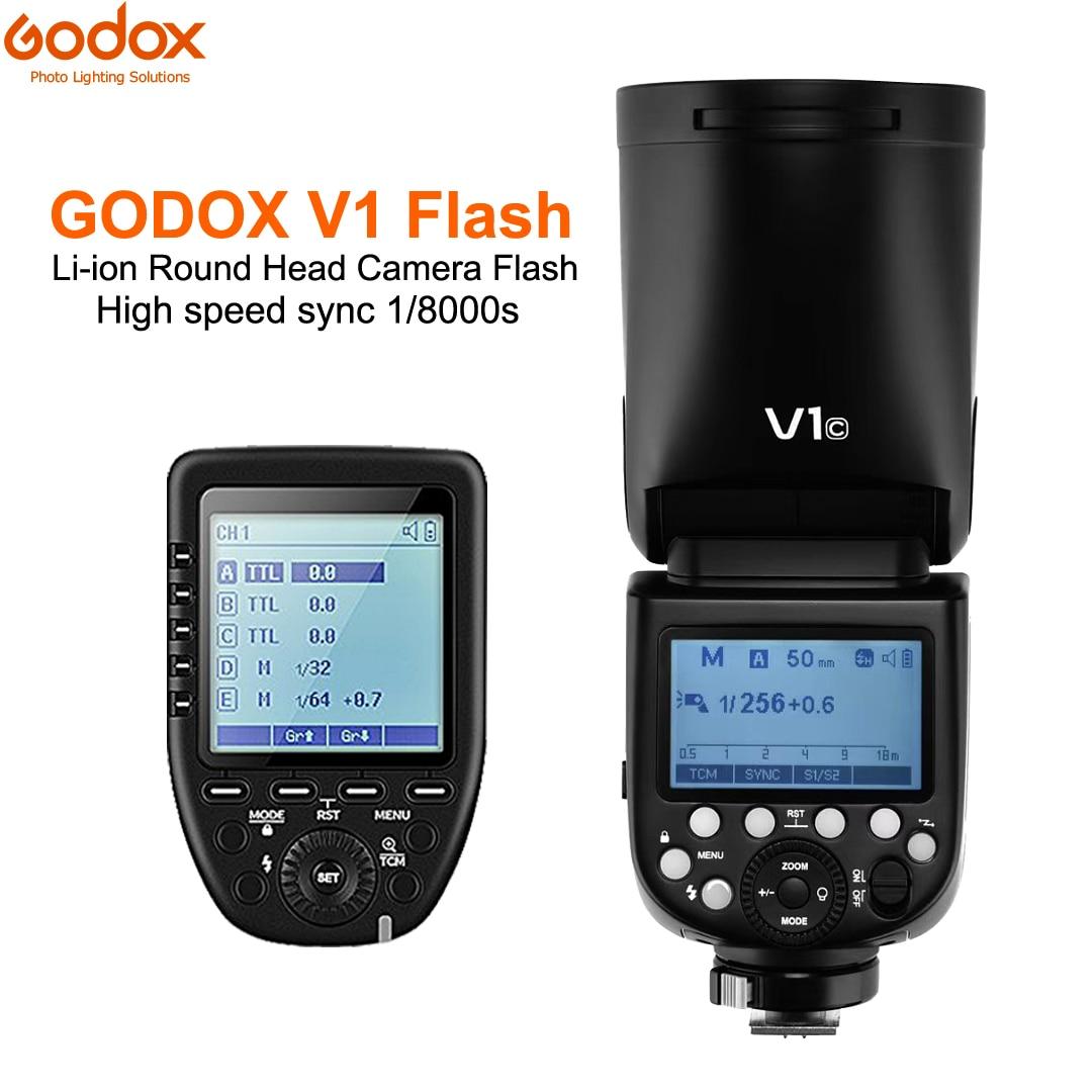 Godox V1C V1N V1S TTL 1/8000s Li-ion Battery Flash lithium battery Speedlite + XPro-C/N/S Trigger for SONY Canon Nikon CamerasGodox V1C V1N V1S TTL 1/8000s Li-ion Battery Flash lithium battery Speedlite + XPro-C/N/S Trigger for SONY Canon Nikon Cameras