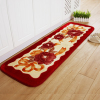 Flower Door Mat Home Kitchen Anti Slip Floor Mat Long Runner Rug Bath Carpet 165x55cm