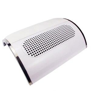 Image 3 - 3 wentylatory potężny zasysający pochłaniacz pyłu do paznokci duży rozmiar niski poziom hałasu odkurzacz do paznokci Manicure narzędzie jak z salonu 2 woreczek pyłowy