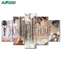 AZQSD 5D Flower Diamond Embroidery Living Room Decor Multi Collages Full Square Diamond Painting Cross Stitch