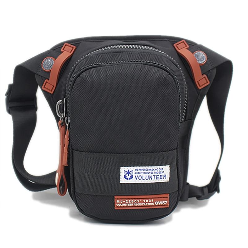 Waterproof Oxford Men's Waist Pack Bag Motorcycle Rider Belt Drop Thigh Pouch Travel Shoulder Crossbody Messenger Fanny Leg Bag