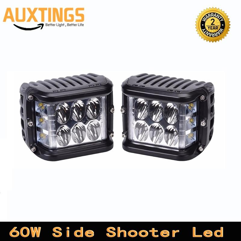 60W 4Inch Cubes Pod LED Work Light 12V 24V SPOT FLOOD FOR 4x4 OFFROAD ATV TRUCK