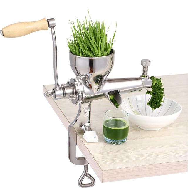 Portable DIY Hand Stainless Steel wheatgrass juicer Fresh fruit wheatgrass vegetable Squeezer Machine juice press extractor stainless steel hand wheatgrass juicer machine manual auger slow juice ideal for fruit vegetables orange juice extractor