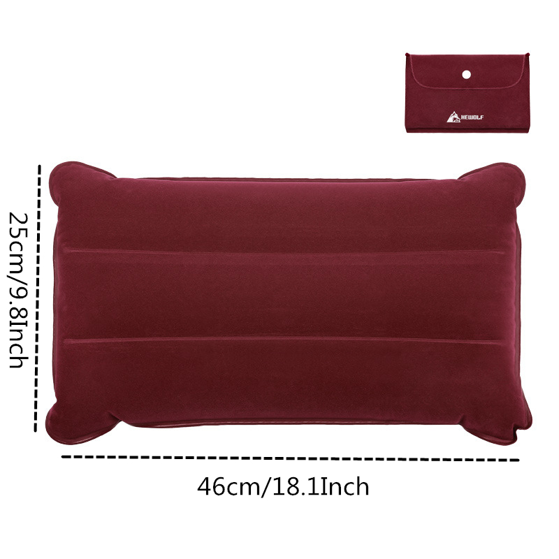 Image 2 - VILEAD Portable Camping Pillow 46*25 cm Outdoor Hiking Travel Inflatable Cushion Plane Beach Sleep Ultralight Soft Camping Mat-in Camping Pillows from Sports & Entertainment