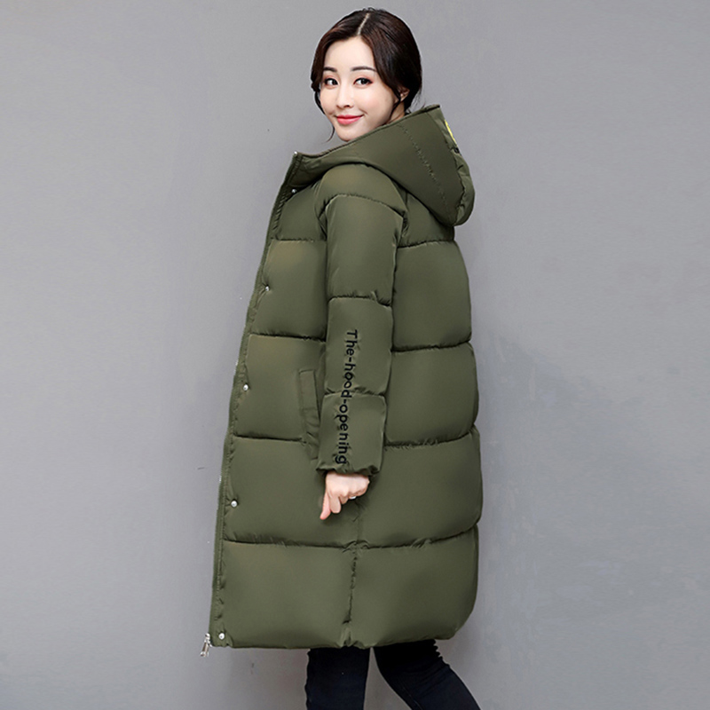Winter New Fashion Long Coat Slim Thickened Hooded Warm Jacket Cotton Padded Zipper Plus Size Outwear Coat 7 Colors YP0555 good 2017 winter fashion long coat slim thickened turtleneck warm jacket hooded cotton padded zipper plus size outwear casacos