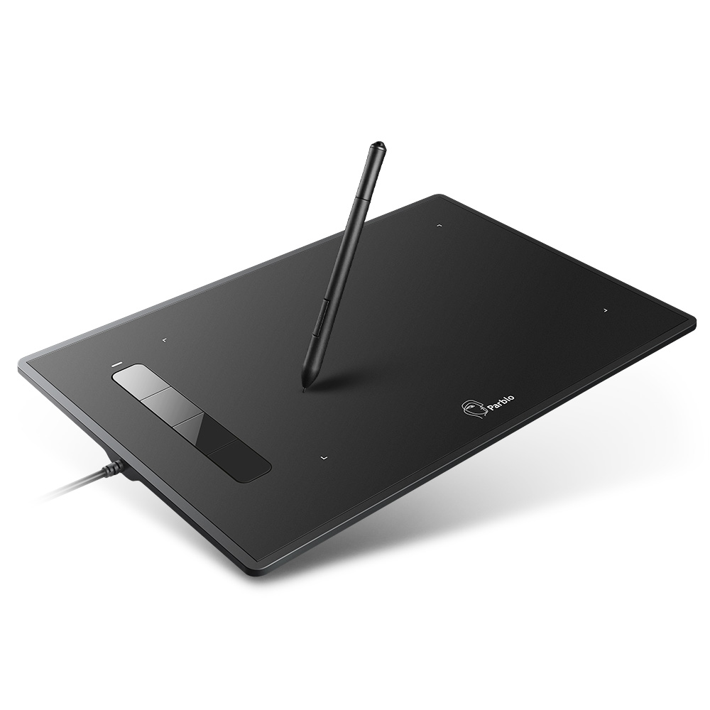 Parblo Island A609 Graphic Drawing Tablet 8x 5 inches 220 RPS 5080 LPI with 2048 Levels Pressure Battery-free Pen