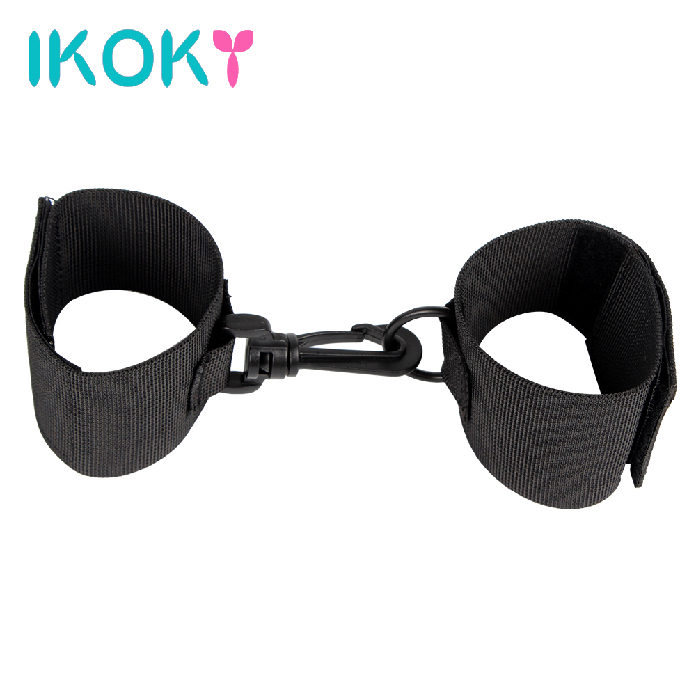 IKOKY Restraint Ribbon Nylon Hands Cuffs Fixed Hand Handcuffs 1 Pair Adult Product Sex Toys for Couples Sexy SM Bondage FetishIKOKY Restraint Ribbon Nylon Hands Cuffs Fixed Hand Handcuffs 1 Pair Adult Product Sex Toys for Couples Sexy SM Bondage Fetish