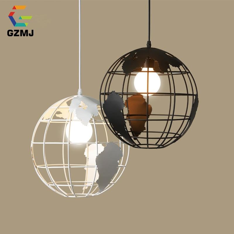 Aliexpress Com Buy Dining Room Retro Pendant Lamps: Aliexpress.com : Buy GZMJ Vintage Globes Pendant Lamps