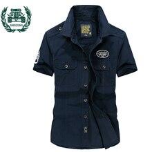 ZHAN DI JI PU Брендовая одежда мужские летние платья рубашка армейский Стиль S-4XL размер 62