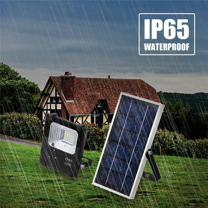 Smuxi 10W Solar Power Panel LED Flood Light Outdoor Garden Yard Street Path Landscape Seucrity Lamp Floodlight Waterproof