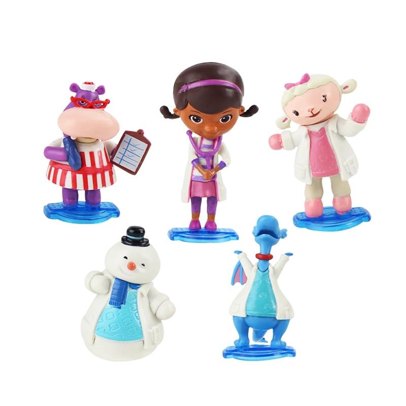 Doc Mcstuffins Snowman Action-Figure Chilly Hallie Lambie Sheep Dragon Hippo Model-Toys