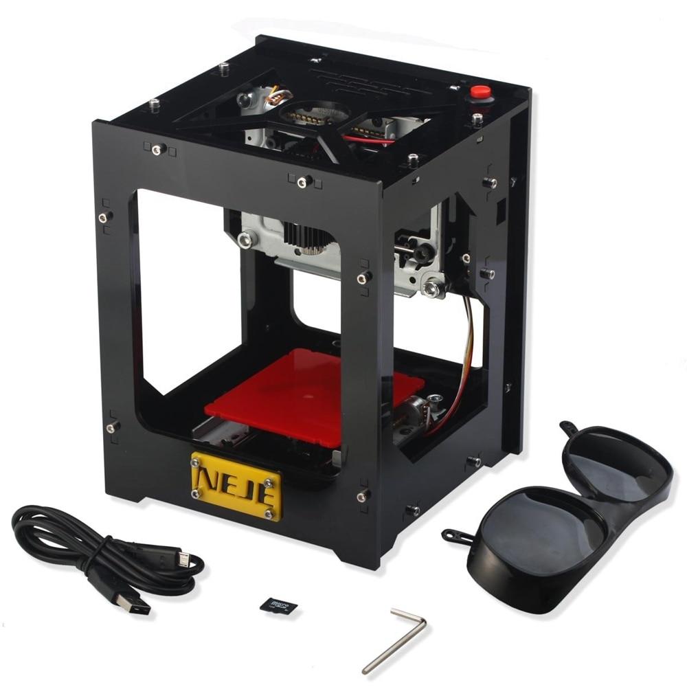 NEJE DK-BL 1500mw Mini Laser Engraver Bluetooth DIY Laser Engraver Printer Craving Kit For Wood Bamboo Plastic Rubber