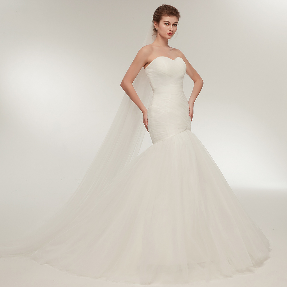 e8f210ebc98 Aliexpress.com   Buy BeryLove Ivory Mermaid Wedding Dress 2018 Long Tulle  Wedding Dresses Plus Size Wedding Gowns Dresses For Wedding Robe De Mariee  from ...