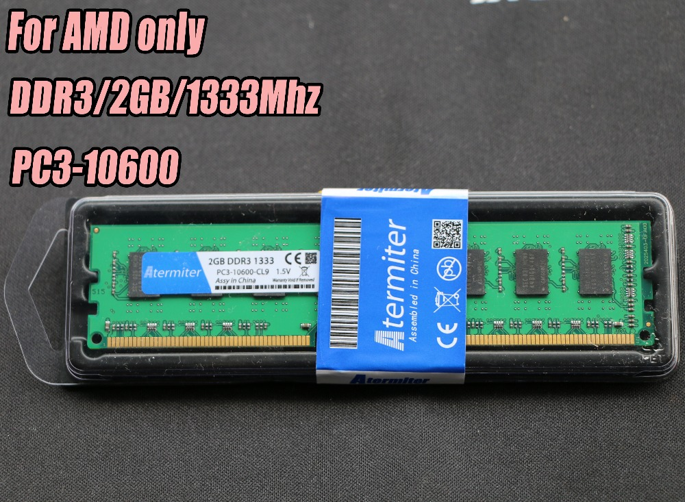 New 2GB DDR3 PC3-10600 1333MHz For Desktop PC DIMM Memory RAM 240 pins For AMD System High Compatible 2G 1333 DDR2