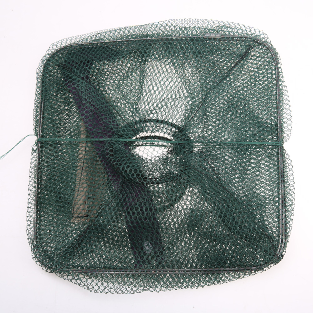Hot Koop 48 * 22 cm Vouwen Visnet Catch Krab Garnalen Minnow Visaas - Visvangst - Foto 4