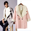 UK Brand Suede Jacket  Warm Winter Jacket Women Slim Detachable Fur Collar Coat Ladies Parka Outwear Casual Overcoat