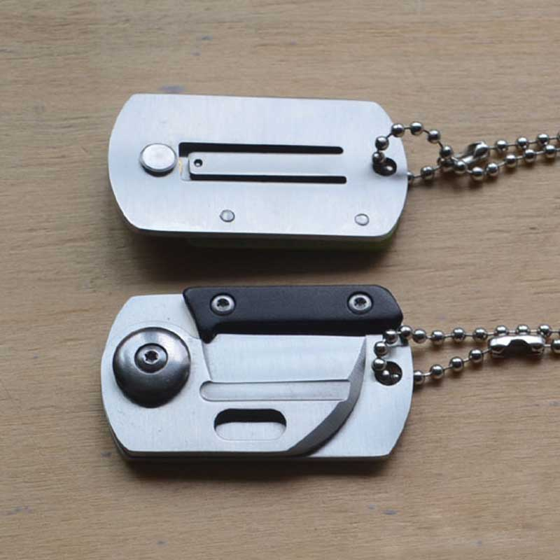 Hordozható zseb EDC Mini összecsukható kés kártya hadsereg - Kézi szerszámok - Fénykép 4