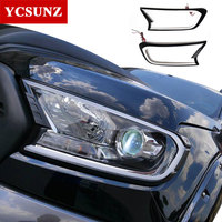 2016 2018 DRL LED daytime Headlights cover for ford ranger T7 2016 accessories for ford ranger everest endeavour 2017 Ycsunz