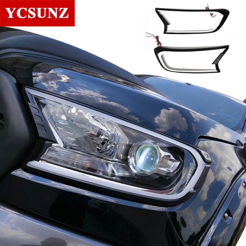 2016-2018 DRL LED daytime Headlights cover for ford ranger T7 2016 accessories for ford ranger everest endeavour 2017 Ycsunz