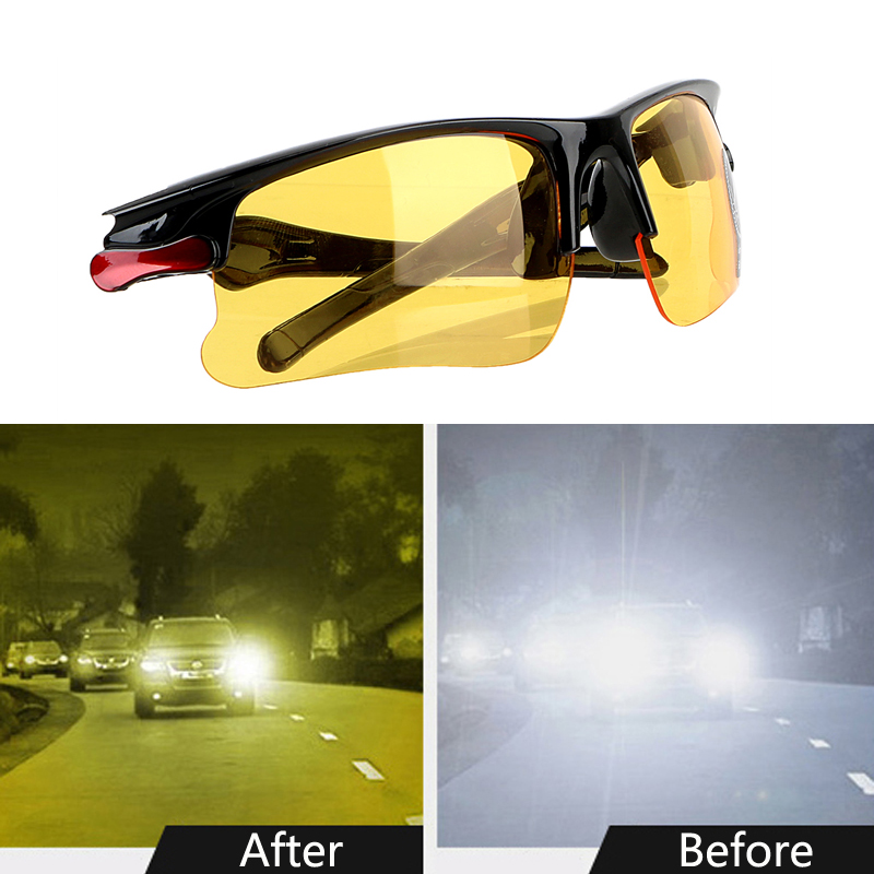 Anti-UV Polarizer Car Drivers Night Vision Goggles Polarized Driving Glasses Sunglasses Auto Accessories
