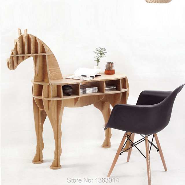 "48.8"" horse desk horse coffee table wooden home furniture FSC-certified"