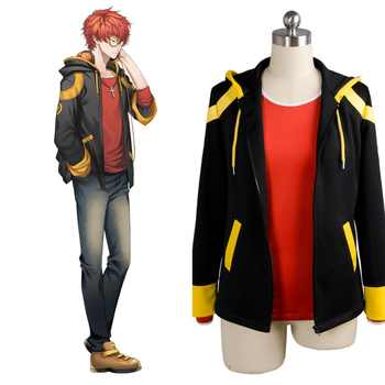 Mystic Messenger Cosplay Costume Wig 707 EXTREME Saeyoung Luciel Choi 7 Outfit Cosplay Costume Jacket Shirt Uniform Full Set - DISCOUNT ITEM  20% OFF Novelty & Special Use