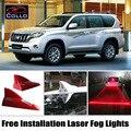 Instalação gratuita Para Toyota Land Cruiser Prado 120 150/FJ Cruiser/Laser de Barbatana de Tubarão Energia Solar Luzes de Nevoeiro/Aviso lâmpada