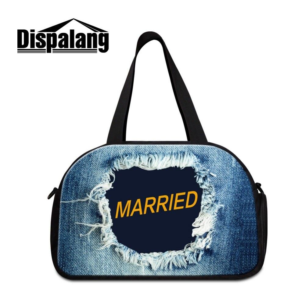 Dispalang Jeans Design Big Bag Per Viaggi Freddo Sacchetto Di Indumento Per Gli Uomini Duffle Bag Deposito Imposta Per Le Ragazze Leggero Durante La Notte Borse Calcolo Attento E Bilancio Rigoroso
