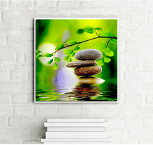 zen gardens nature photos 5D DIY Diamond Painting Mosaic Crystal Round Rhinestone Embroidery Cross Stitch Beauty Home Decor(China)