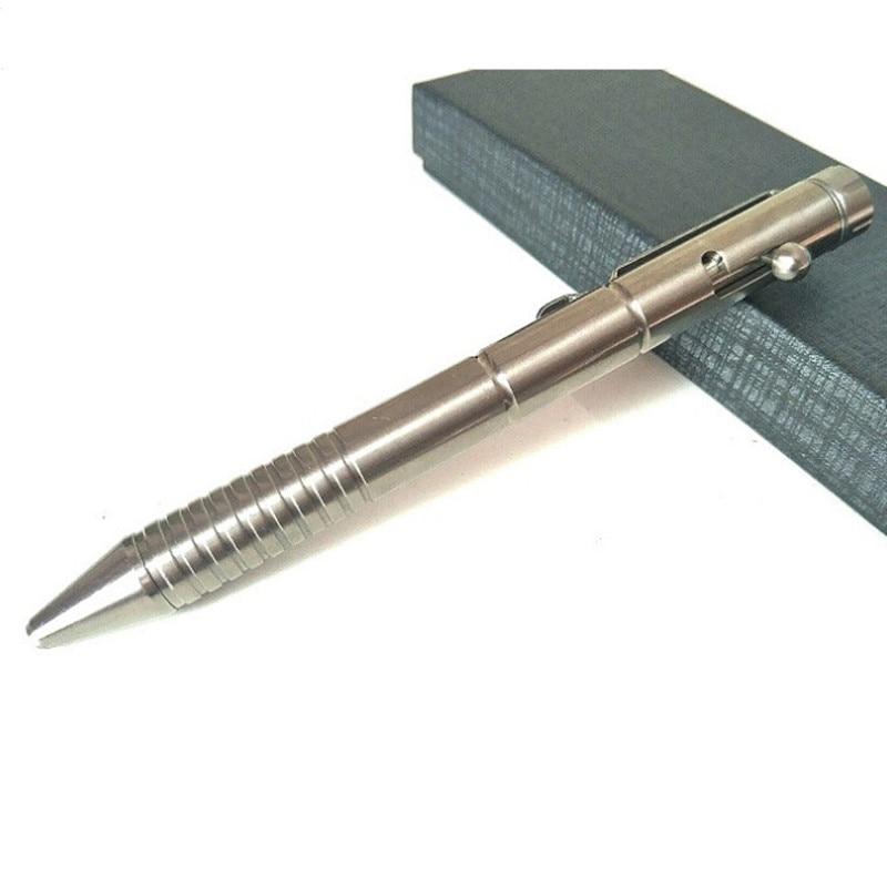 Multifunctional Titanium Tactical Pen EDC Self - Defense Tacture Throttle Tungsten Steel Head Break Window Defense Pens Outdoor