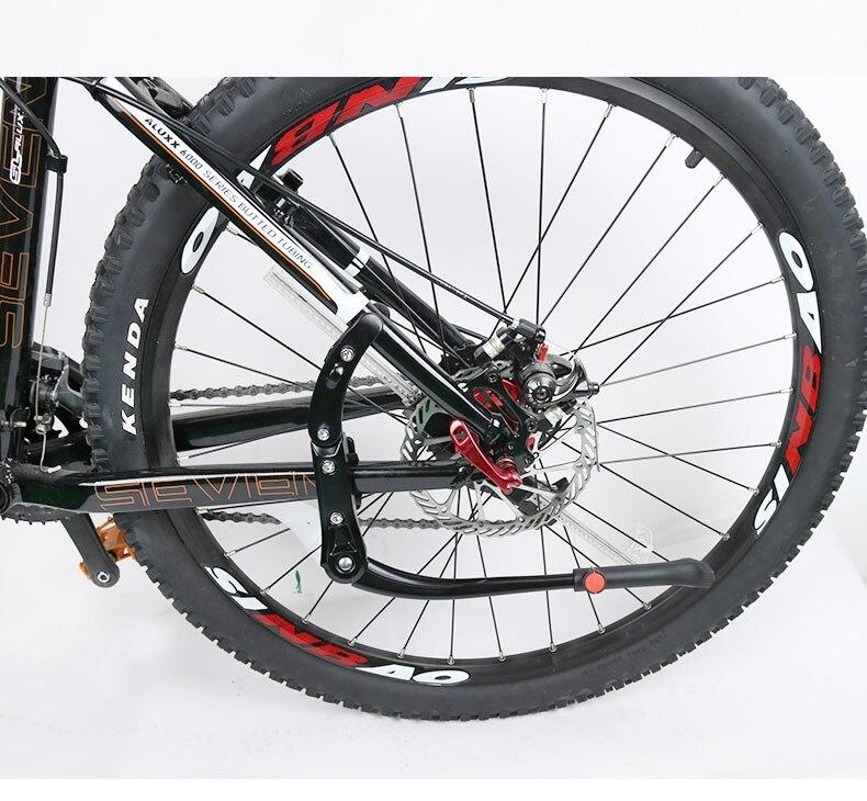 Réglable Vélo Béquille Alliage Vélo Support De Stockage Rack Montagne Bike Side Béquille dans Porte-bicyclette de Sports et loisirs