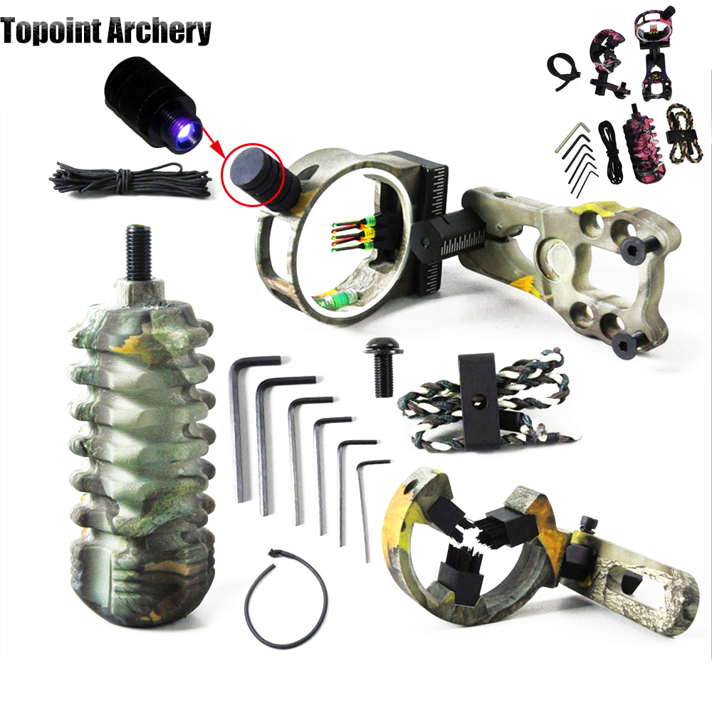 Archery Hunting 5pin Bow Sight Slings Arrow Rest Bow Stabilizer Peep Sight Compound Bow kit Compound Bow Accessories Set