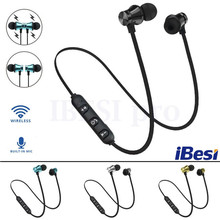 IBESI XT11 Wireless Headphone Magnetic Bluetooth Earphone Neckband Sport Bass Headset Handsfree Earbuds with Mic for Phone(China)