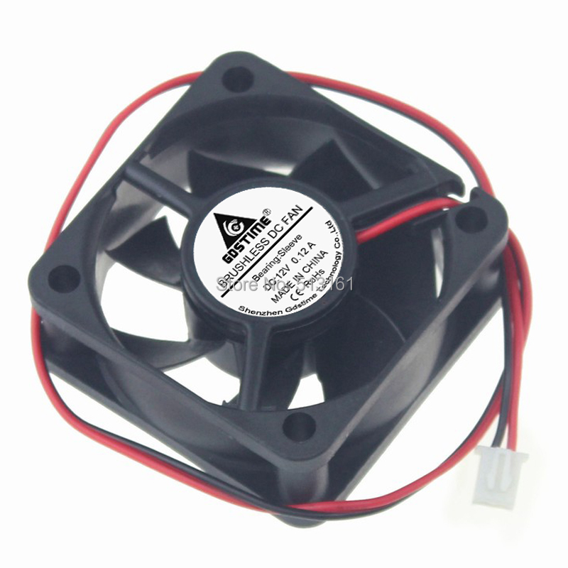 20pcs lot Gdstime DC 12V 2Pin 50mm 50x50x20mm 5cm Small Brushless Cooler Cooling Fan in Fans Cooling from Computer Office