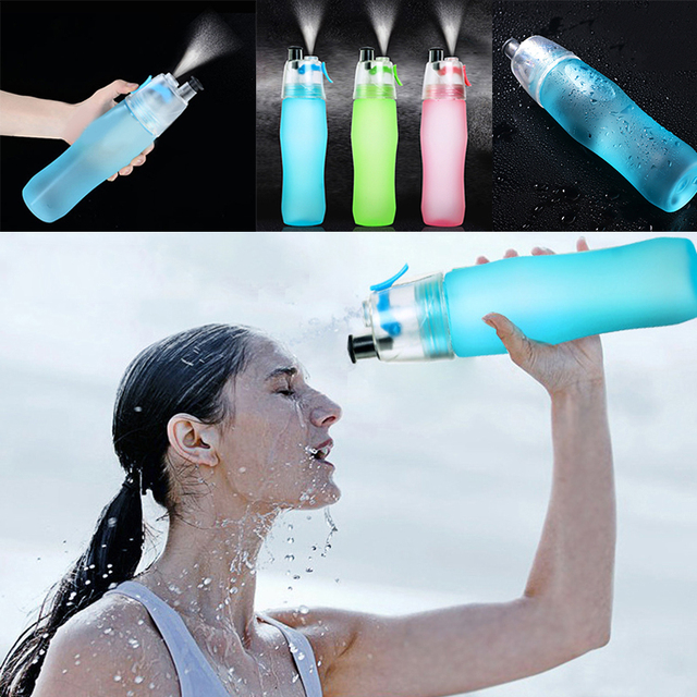 740ml Sport Spray Water Bottle