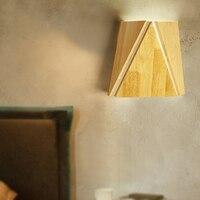 JAXLONG Nordic LED Wand Lampe Holz Nacht Lesen Wohnzimmer Decor Schlafzimmer Wand Licht Esszimmer Loft Cafe Art Wand korridor-in LED-Innenwandleuchten aus Licht & Beleuchtung bei