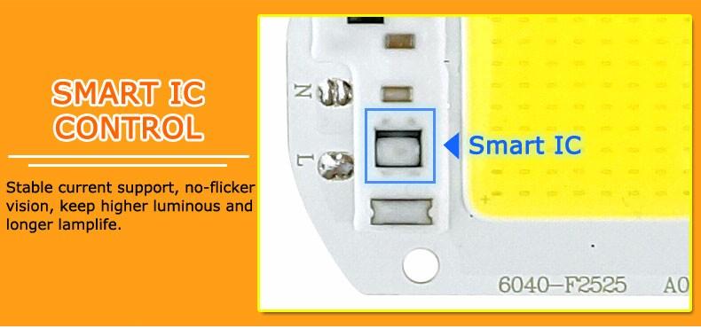 COB LED Lamp Chip 10W 15W W 30W 50W LED COB Bulb Lamp 2V IP65 Smart IC Driver Cold/ Warm White LED Spotlight Floodlight 5