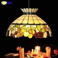 Тиффани подвесной светильник творческий Книги по искусству фрукты Корона Стекло подвесной светильник Гостиная Ресторан Кухня Подвесная л