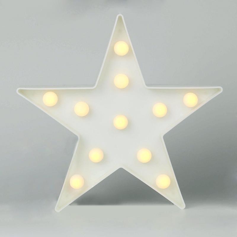 Luzes da Noite estrela/nuvem/unicórnio/cactus/flamingo forma diy branco quente Potência : 0-5 w